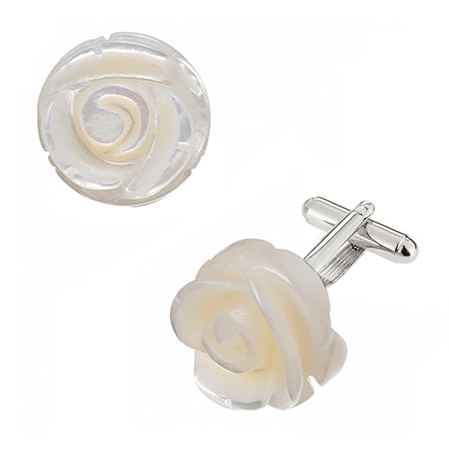 Gemstone Rose Cufflinks