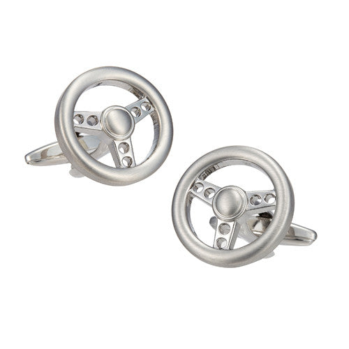Metal Steering Wheel Cufflinks