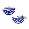 Citrus Slice Cufflinks in Blue by LINK UP