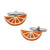 Citrus Slice Cufflinks in Dark Orange by LINK UP