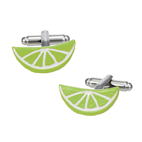 Citrus Slice Cufflinks in Lime Green by LINK UP