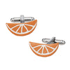 Citrus Slice Cufflinks in Light Orange by LINK UP