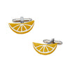 Citrus Slice Cufflinks in Lemon Yellow by LINK UP