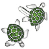 Turtle Cufflinks in Dark Green by LINK UP