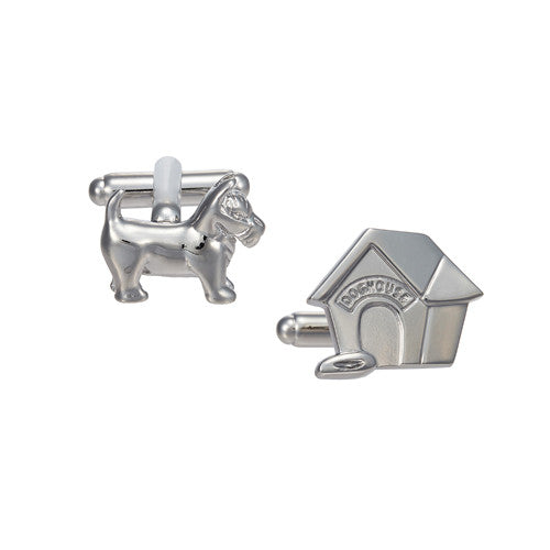 Dog and Dog House Cufflinks by LINK UP