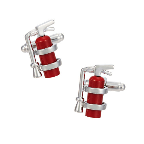 Fire Extinguisher Cufflinks by LINK UP