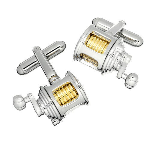 Fly Fishing Reel Cufflinks by Link Up