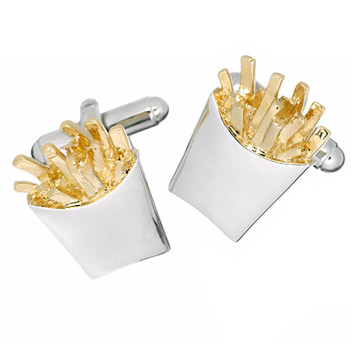Link Up French Fry Cufflinks