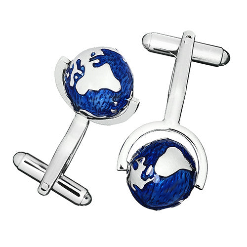 Spinning Globe Cufflinks by Link Up