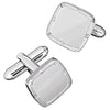 Shine Finish Soft Square Rivet and Screw Finish Cufflinks by LINK UP
