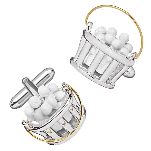 Golf Balls in a Bucket Cufflinks by Link Up