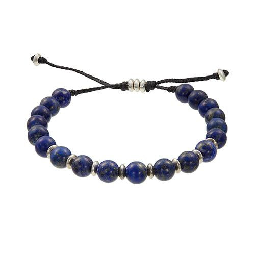 Jan Leslie Blue Lapis Bracelet with Antiqued Beads