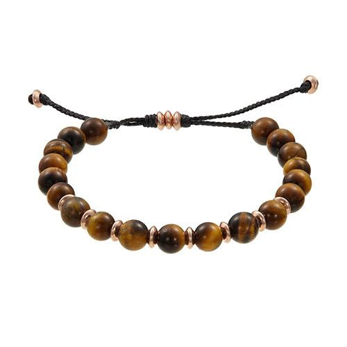 Jan Leslie Tigers Eye Bracelet with Brass Beads