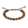 Gemstone Beads with Alternating Accent Spacers Pull Cord Bracelet