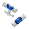 Working Level Cufflinks in Blue by LINK UP