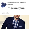 Marine Blue Silk Knot Cufflinks by Link Up