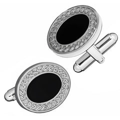Oval Black Epoxy Cufflinks from Link Up