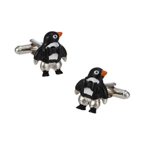 Penguin Cufflinks with Dapper Bowtie