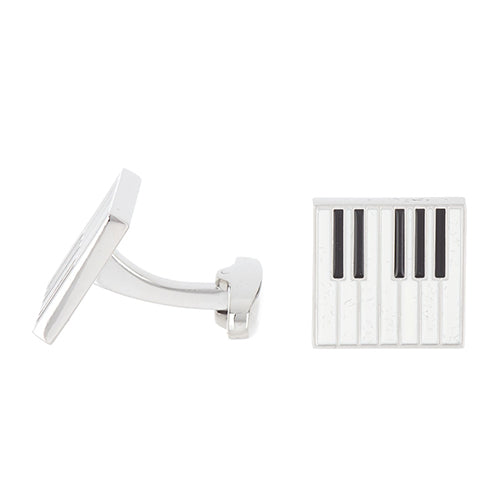 Black and White Piano Key Cufflinks