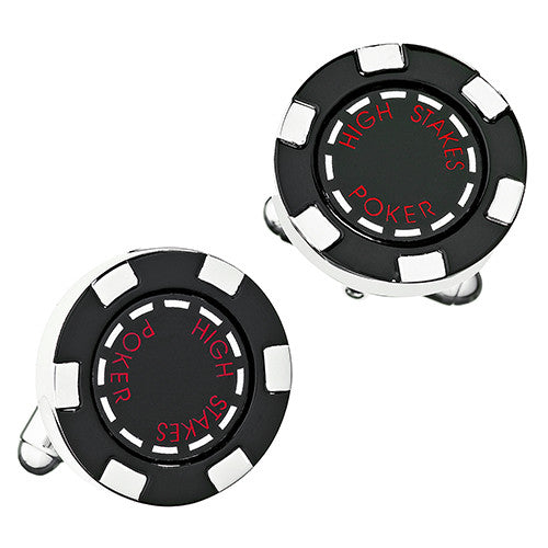 Red Poker Chip Cufflinks from LINK UP