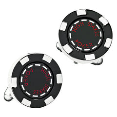 Black Poker Chip Cufflinks from LINK UP