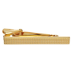 Pyramid Dotted Tie Bar in Gold-Tone Finish by LINK UP