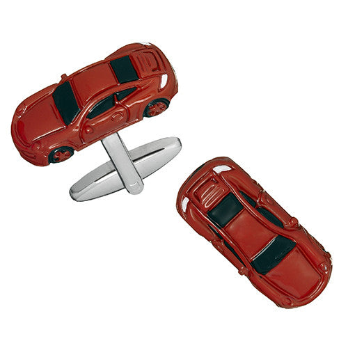 Red Sports Car Cufflinks by Link Up