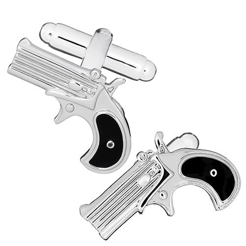 Revolver Pistol Cufflinks by Link Up
