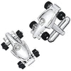 Formula One Racecar Cufflinks in Silver by LINK UP