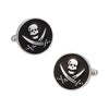 Skull and Swords Button Cufflinks in Black by LINK UP
