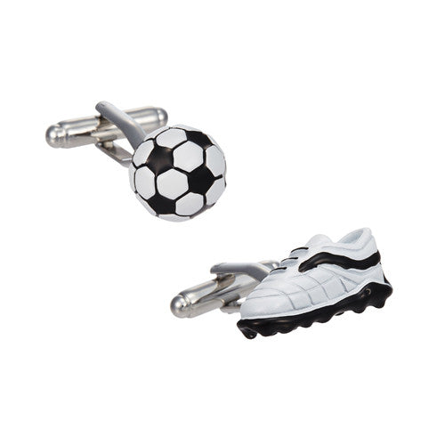 Soccer Ball and Cleat Cufflinks by LINK UP