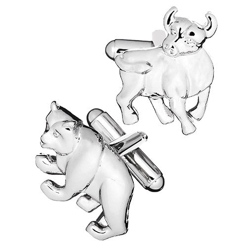 Bull and Bear Wall Street Cufflinks by Link Up