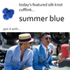 Summer Blue Silk Knot Cufflinks by Link Up