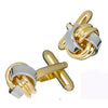 Classic Metal Knot Cufflinks in Two-Tone Finish by LINK UP