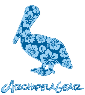The Hibiscus Pelican - Blue Performance T