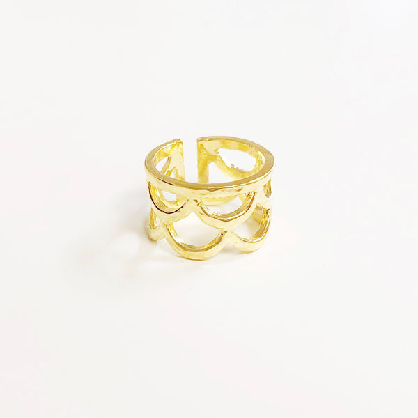 Waimea Mermaid Scale Ring (14k Gold Vermeil)