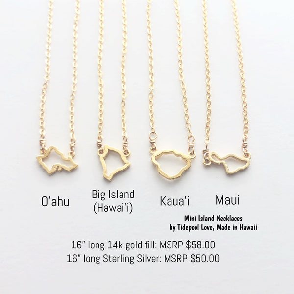 Mini Island Grown Necklaces (Gold Vermeil or Solid Sterling Silver)