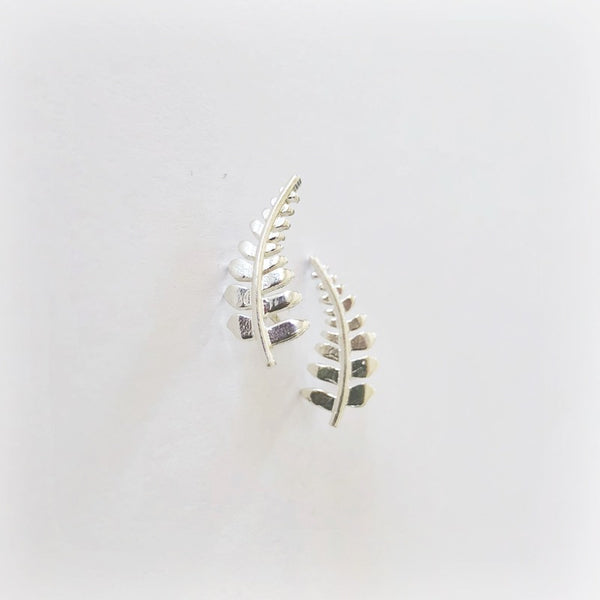 Hawaiian Fern Ear Crawler Sterling Silver
