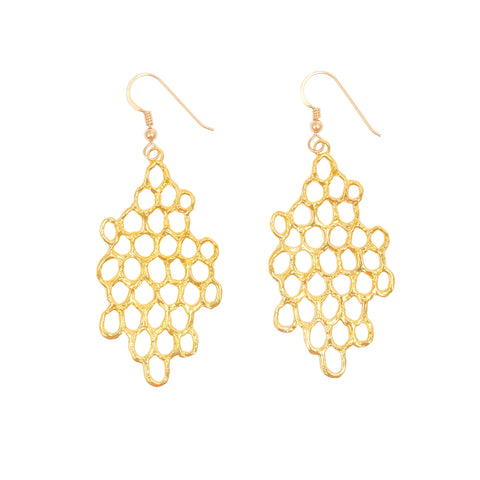 Mermaid Scales Large Earring (14k Gold Vermeil)