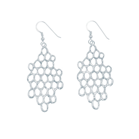 Mermaid Scales Large Earrings (Sterling Silver)