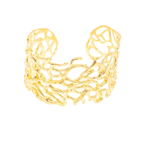 Sea Fan Coral Cuff (14k Gold Vermeil)