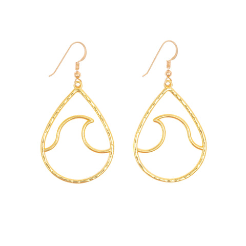 Kailua Wave Earrings (14k Gold Vermeil)