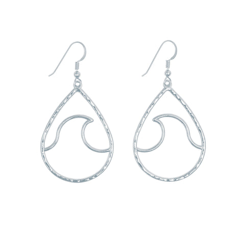 Kailua Wave Earrings (Sterling Silver)