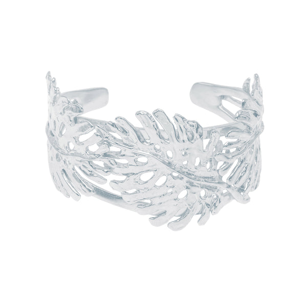 Statement Monstera Leaf Cuff (Sterling Silver)