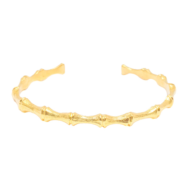 Single Bamboo Cuff (14k Gold Vermeil)