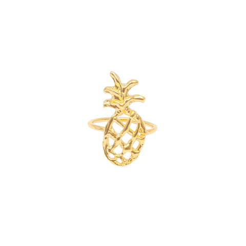 Sweet & Sandy Pineapple Ring (14k Gold Vermeil)