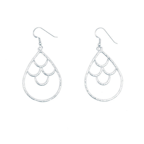 Mermaid Crown Drop Earrings (Sterling Silver)