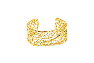 North Shore Everyday Coral Sea Fan Statement Cuff (14kGold Vermeil)