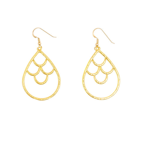 Mermaid Crown Drop Earrings (14k Gold Vermeil)