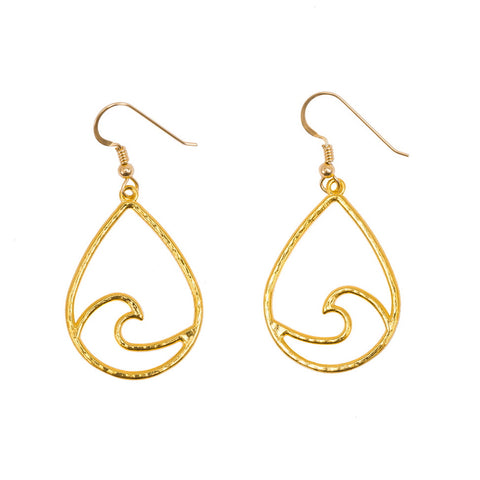 Small Waikiki Swell Earrings (14k Gold Vermeil)